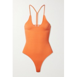Dodo Bar Or - Faye Open-back Ribbed-knit Bodysuit - Orange found on MODAPINS from NET-A-PORTER for USD $290.00