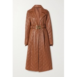 Dodo Bar Or - Samara Belted Quilted Leather Midi Dress - Brown found on MODAPINS from NET-A-PORTER for USD $1485.00