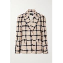Isabel Marant - Kioa Checked Tweed Blazer - Ecru found on Bargain Bro UK from NET-A-PORTER UK