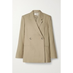 Anine Bing - Kaia Double-breasted Grain De Poudre Blazer - Sand found on MODAPINS from NET-A-PORTER for USD $350.00