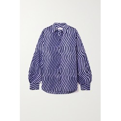 DRIES VAN NOTEN - Striped Cotton-poplin Shirt - Blue found on Bargain Bro India from NET-A-PORTER for $550.00