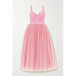 Dolce & Gabbana - Tulle Midi Dress - Pink found on Bargain Bro India from NET-A-PORTER for $4845.00