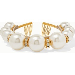 Dolce & Gabbana - Gold-tone, Faux Pearl And Crystal Headband - White found on Bargain Bro UK from NET-A-PORTER UK