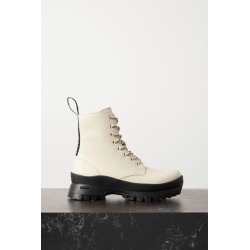 Stella McCartney - Trace Grosgrain-trimmed Vegetarian Leather Ankle Boots - Ivory found on Bargain Bro UK from NET-A-PORTER UK