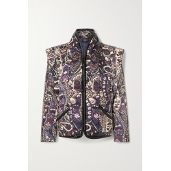Isabel Marant - Janissa Convertible Faux Leather-trimmed Floral-print Cotton Jacket - Midnight blue found on Bargain Bro UK from NET-A-PORTER UK