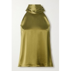 Galvan - Satin Halterneck Top - Sage green found on MODAPINS from NET-A-PORTER for USD $520.00