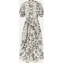 Alexander McQueen - Printed Silk-crepe Midi Dress - White found on MODAPINS from NET-A-PORTER UK for USD $4122.89