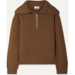 Acne Studios - Kelanie Ribbed Wool-blend Sweater - Brown found on Bargain Bro UK from NET-A-PORTER UK