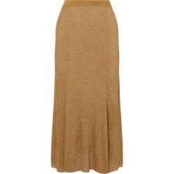 Alice Olivia - Elissa Ribbed Lurex Midi Skirt - Gold found on MODAPINS from NET-A-PORTER for USD $188.00