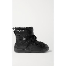 Moncler - Insolux Leather And Padded Shell Ankle Boots - Black found on Bargain Bro UK from NET-A-PORTER UK