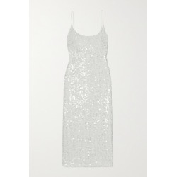Galvan - Mykonos Sequined Metallic Tulle Midi Dress - White found on MODAPINS from NET-A-PORTER for USD $1400.00