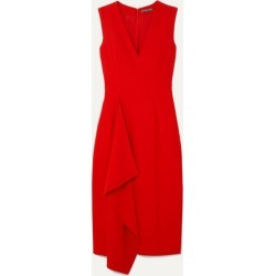 Alexander McQueen - Draped Crepe Midi Dress - Red found on MODAPINS from NET-A-PORTER UK for USD $1749.87