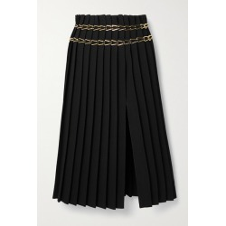Dion Lee - Chain-embellished Pleated Crepe Midi Skirt - Black found on MODAPINS from NET-A-PORTER UK for USD $1612.50
