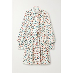 Jason Wu - Tie-neck Floral-print Silk Crepe De Chine Mini Dress - Cream found on MODAPINS from NET-A-PORTER for USD $595.00