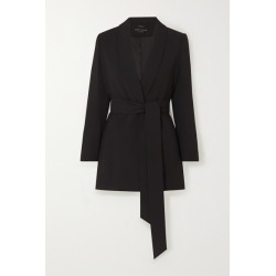 Alice Olivia - Wheaton Belted Crepe Blazer - Black found on MODAPINS from NET-A-PORTER for USD $440.00