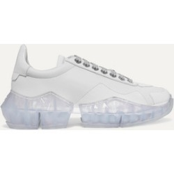 Jimmy Choo - Diamond Patent-trimmed Leather Sneakers - White found on Bargain Bro UK from NET-A-PORTER UK