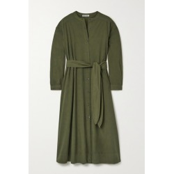 Alex Mill - Belted Cotton-poplin Midi Shirt Dress - Army green found on MODAPINS from NET-A-PORTER for USD $97.50