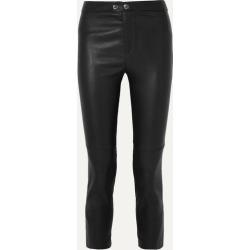 Isabel Marant - Mofira Cropped Leather Skinny Pants - Black