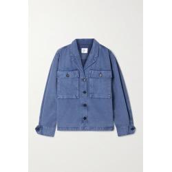 Anine Bing - Sawyer Herringbone Cotton Jacket - Blue found on MODAPINS from NET-A-PORTER UK for USD $226.21