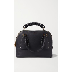 Chloé - Daria Medium Textured And Smooth Leather Tote - Navy found on MODAPINS from NET-A-PORTER UK for USD $2209.40