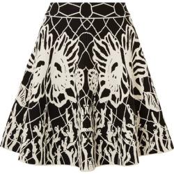Alexander McQueen - Jacquard-knit Mini Skirt - Black found on MODAPINS from NET-A-PORTER UK for USD $1170.78
