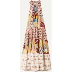 Anjuna - Tiered Metallic-trimmed Printed Cotton-blend Voile Maxi Dress - Beige found on MODAPINS from NET-A-PORTER UK for USD $400.79