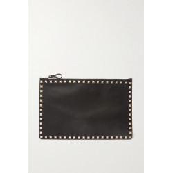 Valentino - Valentino Garavani The Rockstud Large Leather Pouch - Black found on Bargain Bro Philippines from NET-A-PORTER for $695.00