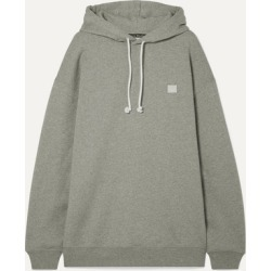 Acne Studios - Farrin Face Oversized Appliquéd Cotton-jersey Hoodie - Light gray found on Bargain Bro UK from NET-A-PORTER UK