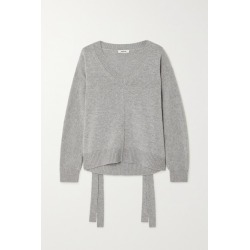 Jason Wu - Tie-detailed Wool And Cashmere-blend Sweater - Gray found on MODAPINS from NET-A-PORTER UK for USD $459.65