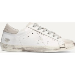 Golden Goose - Superstar Distressed Leather And Suede Sneakers - White found on Bargain Bro UK from NET-A-PORTER UK