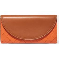 Bottega Veneta - Two-tone Intrecciato Leather Continental Wallet - Brown found on Bargain Bro UK from NET-A-PORTER UK
