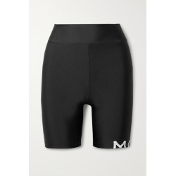 Monse - Printed Stretch-jersey Shorts - Black found on MODAPINS from NET-A-PORTER for USD $350.00
