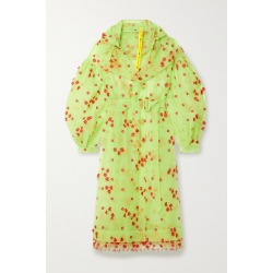 Moncler Genius - + 4 Simone Rocha Coronilla Hooded Appliquéd Embroidered Tulle Trench Coat - Lime green found on Bargain Bro UK from NET-A-PORTER UK