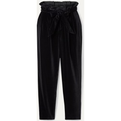 Alice Olivia - Farrel Oversized Belted Velvet Pants - Black found on MODAPINS from NET-A-PORTER for USD $245.00