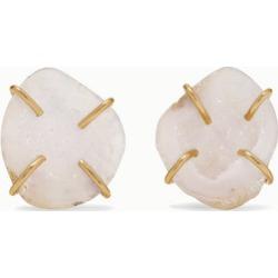 Melissa Joy Manning - + Net Sustain 14-karat Gold Agate Earrings - one size