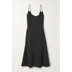 Alex Mill - Stella Tencel And Linen-blend Midi Dress - Black found on MODAPINS from NET-A-PORTER UK for USD $285.65
