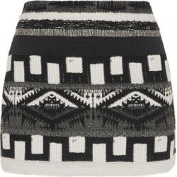Alice Olivia - Elana Jacquard Mini Skirt - Black found on MODAPINS from NET-A-PORTER for USD $285.00