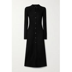 Dodo Bar Or - Elisha Ribbed-knit Midi Shirt Dress - Black found on MODAPINS from NET-A-PORTER for USD $665.00