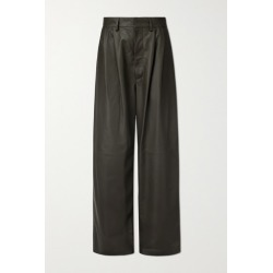 Dodo Bar Or - Momo Leather Wide-leg Pants - Green found on MODAPINS from NET-A-PORTER for USD $1095.00