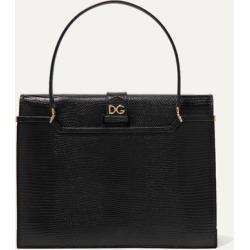 Dolce & Gabbana - Ingrid Lizard-effect Leather Tote - Black found on Bargain Bro UK from NET-A-PORTER UK