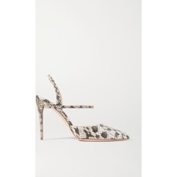 Jennifer Chamandi - Vittorio 105 Elaphe Slingback Pumps - Snake print found on Bargain Bro India from NET-A-PORTER for $650.00