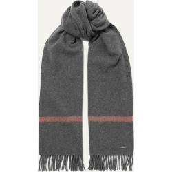 Loro Piana - Twelve Fringed Striped Cashmere Scarf - Dark gray found on MODAPINS from NET-A-PORTER for USD $1125.00
