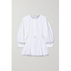 Oscar de la Renta - Pearl-embellished Pintucked Cotton-blend Poplin Blouse - White found on MODAPINS from NET-A-PORTER UK for USD $1968.50