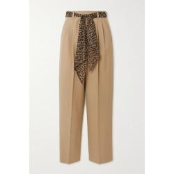 SAINT LAURENT - Belted Wool-gabardine Straight-leg Pants - Beige found on Bargain Bro UK from NET-A-PORTER UK