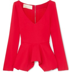 Antonio Berardi - Stretch-cady Peplum Top - Red found on MODAPINS from NET-A-PORTER UK for USD $708.98
