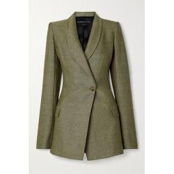 Brandon Maxwell - Herringbone Wool Blazer - Army green found on MODAPINS from NET-A-PORTER UK for USD $1787.11