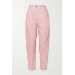 Stella McCartney - Cropped Embroidered High-rise Tapered Jeans - Blush found on Bargain Bro UK from NET-A-PORTER UK
