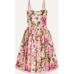 Dolce & Gabbana - Floral-print Organza Dress - Baby pink found on Bargain Bro India from NET-A-PORTER for $1438.00