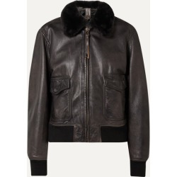 RE/DONE - 40s Shearling-trimmed Leather Jacket - Black found on Bargain Bro India from NET-A-PORTER for $1695.00