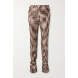JW Anderson - Bow-embellished Checked Wool Straight-leg Pants - Red found on MODAPINS from NET-A-PORTER for USD $485.00